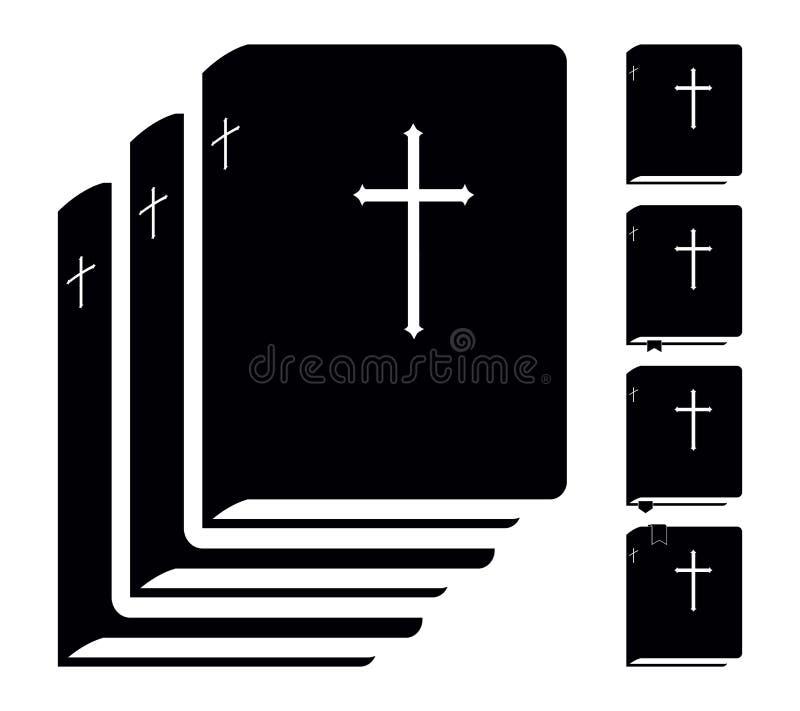Sagrada Biblia Pictograma del libro Fije los iconos del vector ilustración del vector