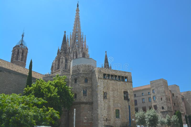 Sagrada cathedral Barcelona stock photography
