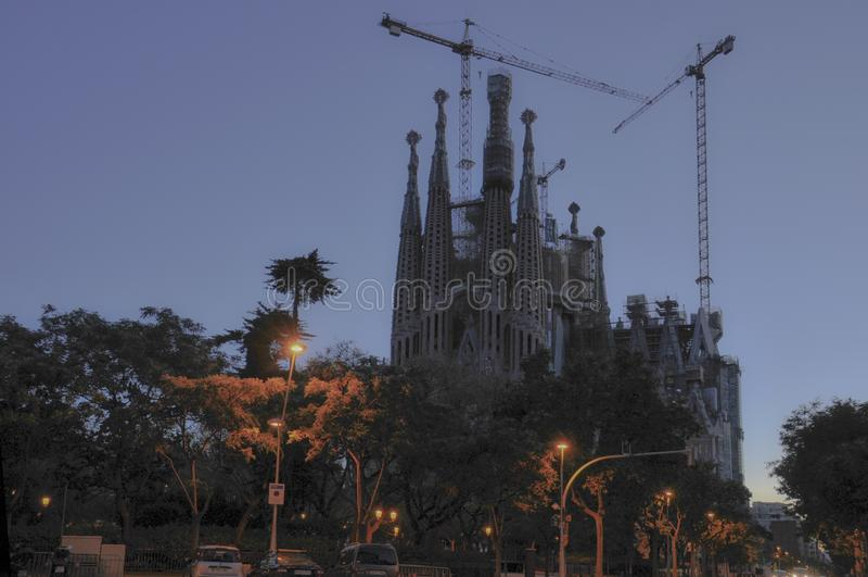 Sagrada FamÃlia της Βαρκελώνης στοκ φωτογραφίες