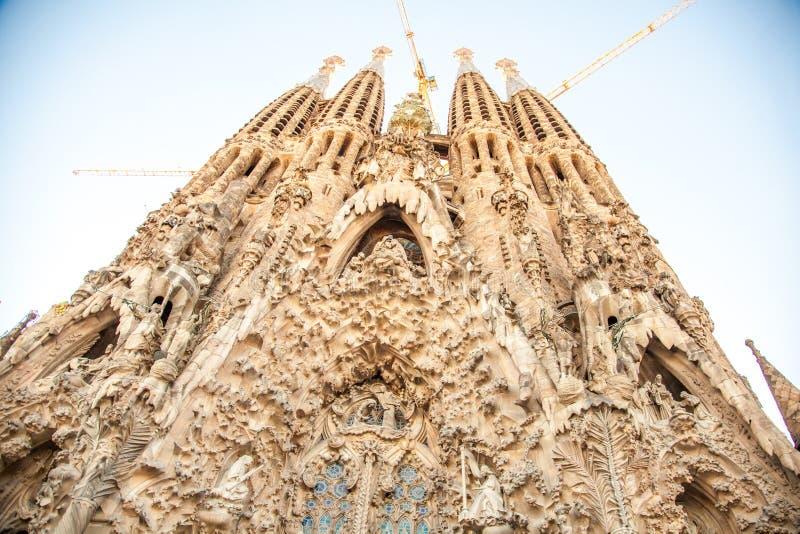 Sagrada FamÃlia Barcelona, Spanje stock afbeelding