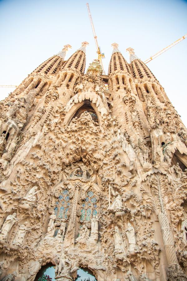 Sagrada Família, Barcelona, Espanha foto de stock royalty free