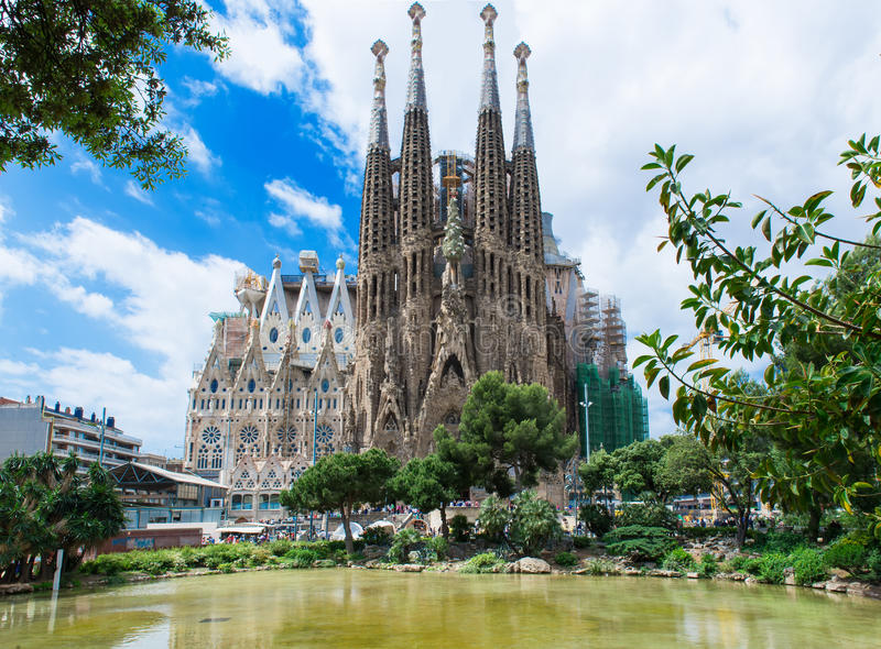 Sagrada Familia在巴塞罗那 免版税库存图片