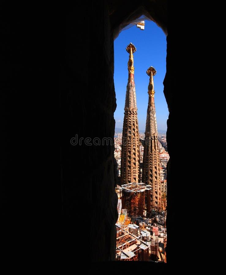 sagrada familia πύργοι στοκ εικόνες