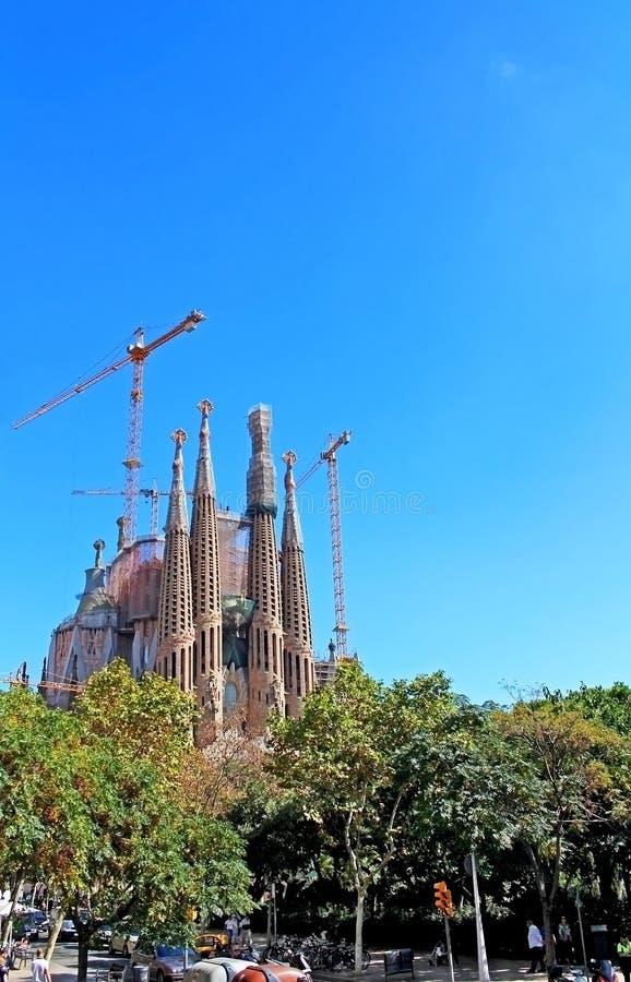 Sagrada Familia в Барселоне, Испании стоковое изображение rf