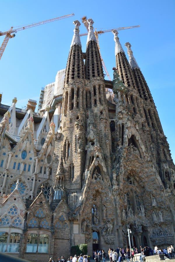 Sagrada Familia в Барселоне стоковое фото