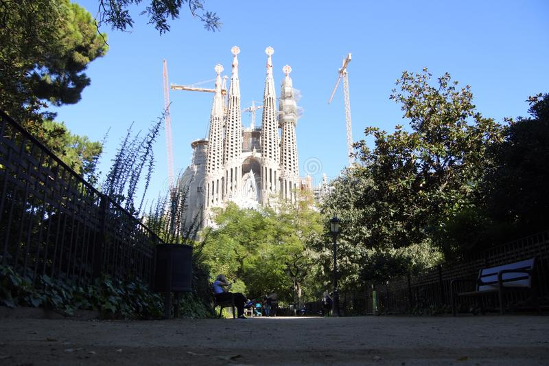 Sagrada Familia -巴塞罗那,加泰罗尼亚语 库存图片