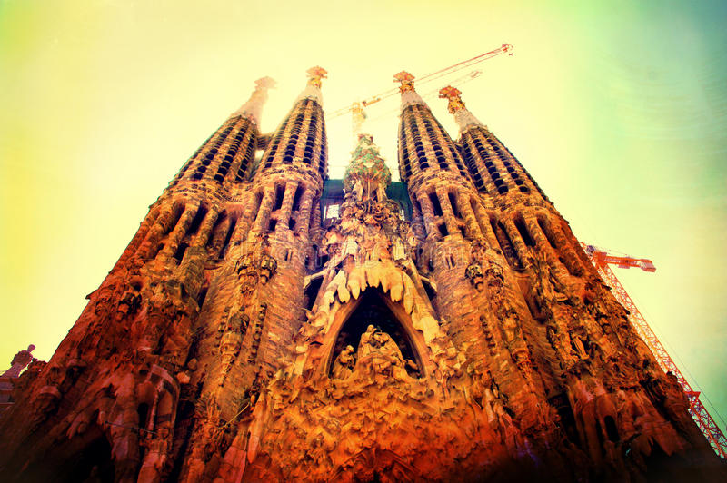 Download Sagrada Familia obraz stock. Obraz złożonej z architektury - 27777385