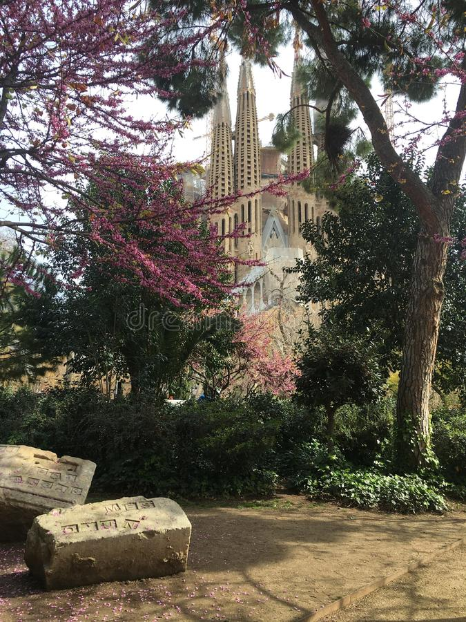 Sagrada Familia immagine stock libera da diritti