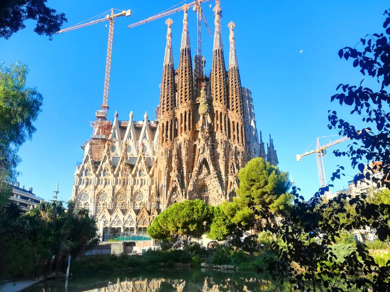Sagrada Familia Barcellona immagine stock