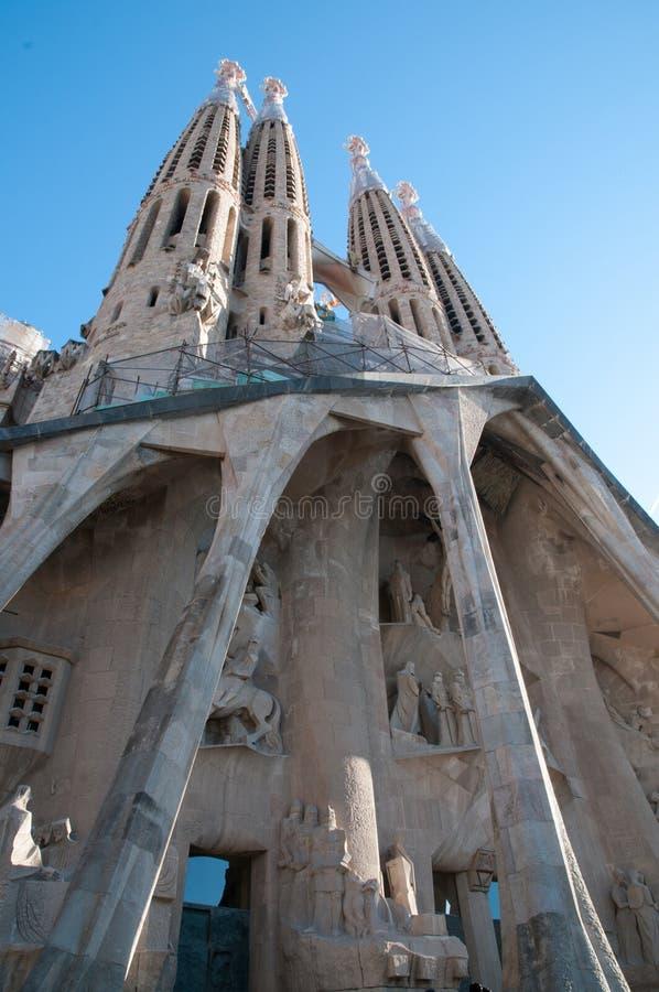 Sagrada Familia (Barcellona) Spagna immagini stock libere da diritti
