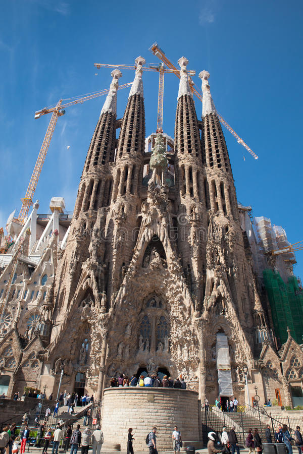 Sagrada Familia, Barcellona Spagna fotografia stock libera da diritti