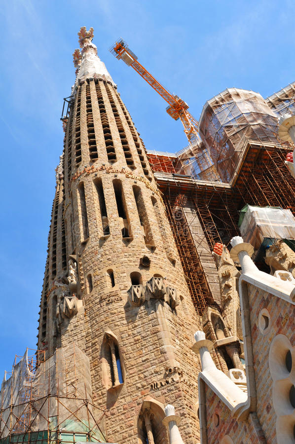 Download Sagrada Familia, Barcelona stock image. Image of constructions - 25873101