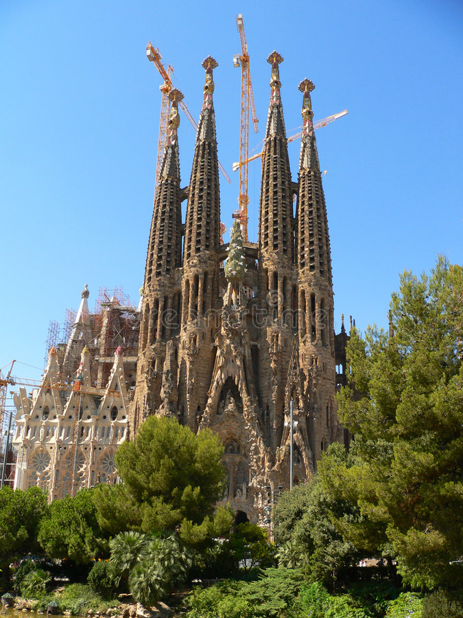 Sagrada familia, Barcelona royalty free stock image