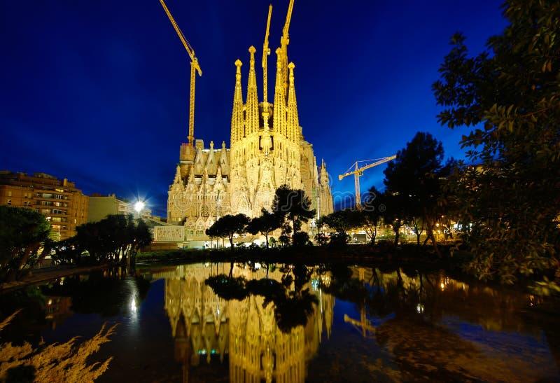 Sagrada Familia, Barcelona arkivbilder