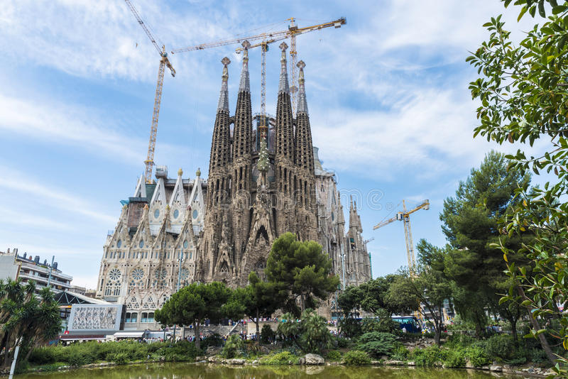 Sagrada familia, Barcelona stock foto's