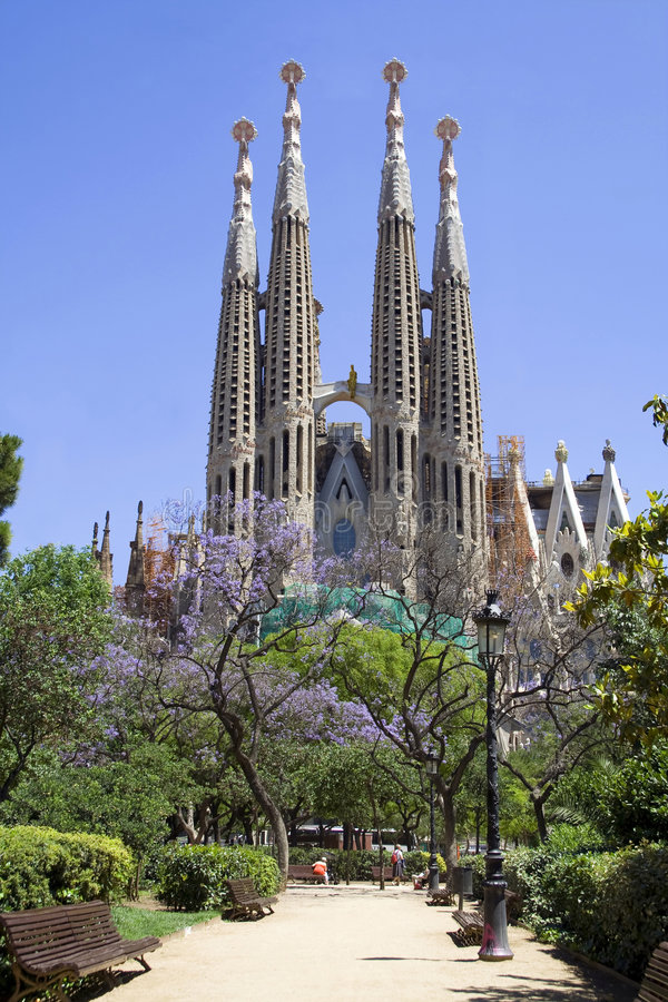 Sagrada Familia (Barcelona) imagenes de archivo