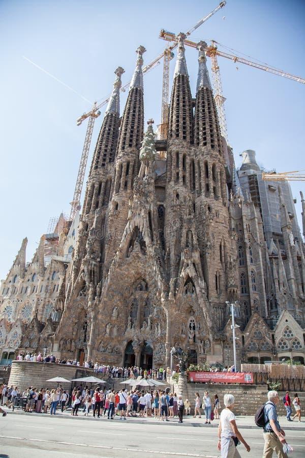 Sagrada familia in Barcelona royalty-vrije stock fotografie