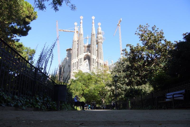 Sagrada Familia - Barcelona, katalanisch stockbilder
