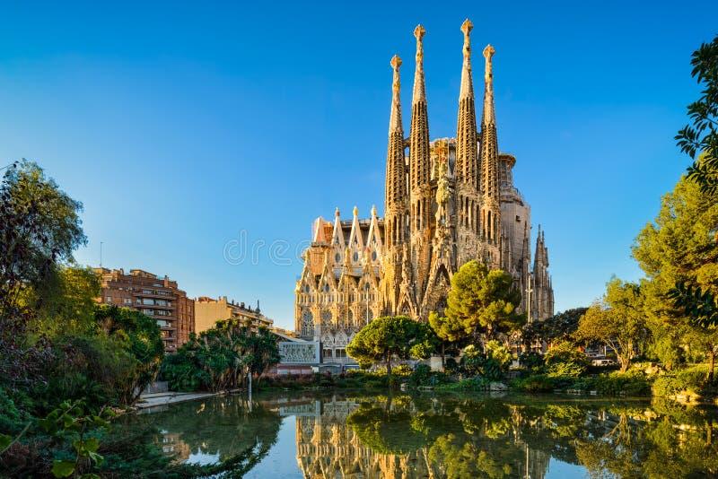 Sagrada Familia in Barcelona, Spain stock photos