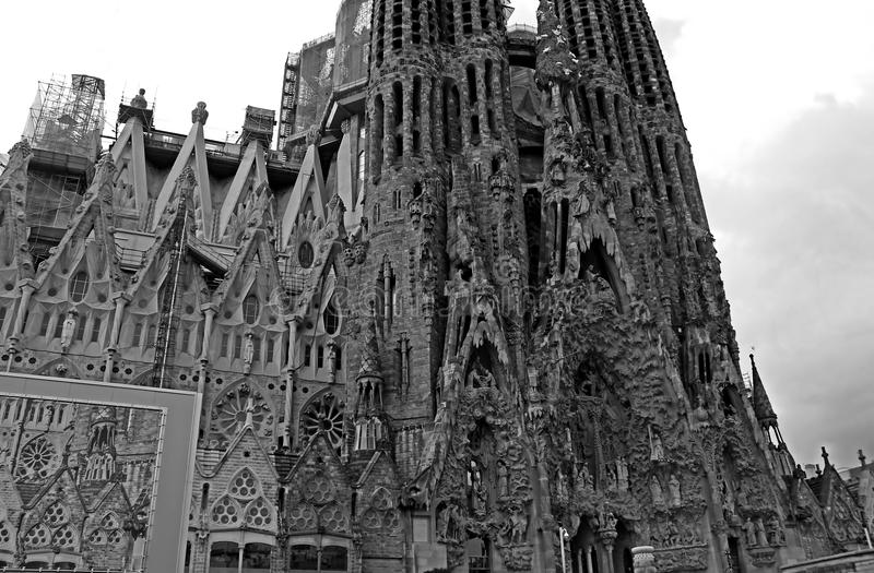 Sagrada Familia in Barcelona, Spain stock images