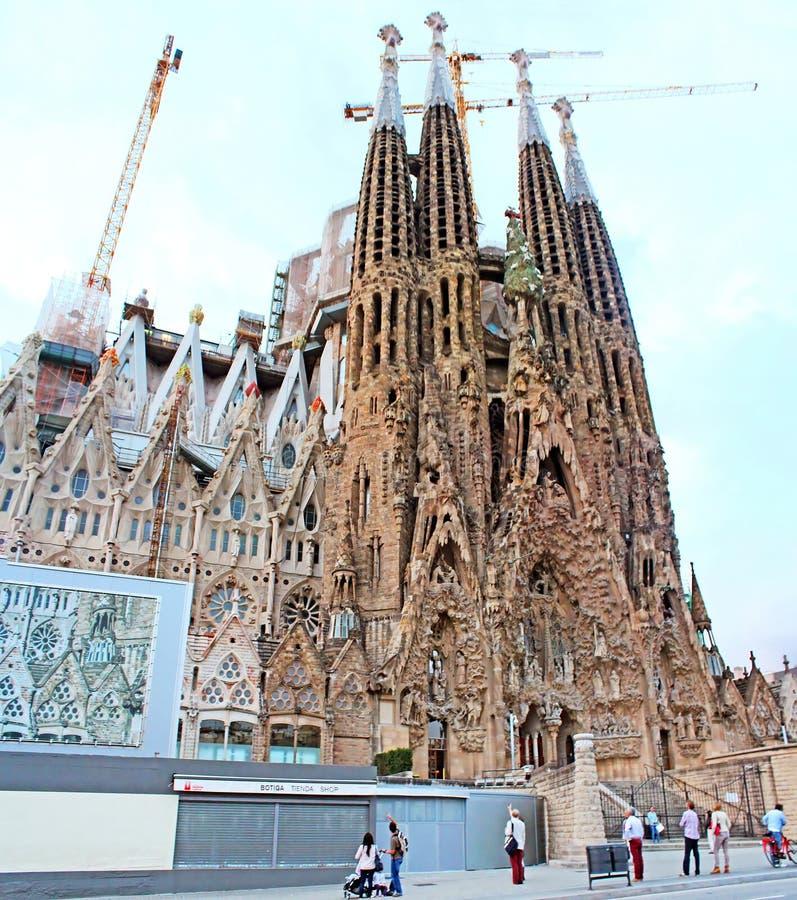 Sagrada Familia in Barcelona, Spain royalty free stock photos