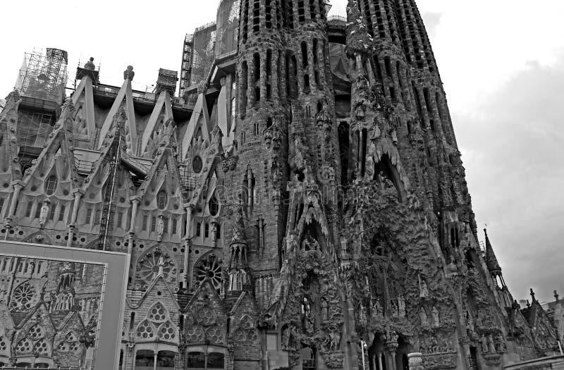 Sagrada Familia in Barcelona, Spanien stockbilder