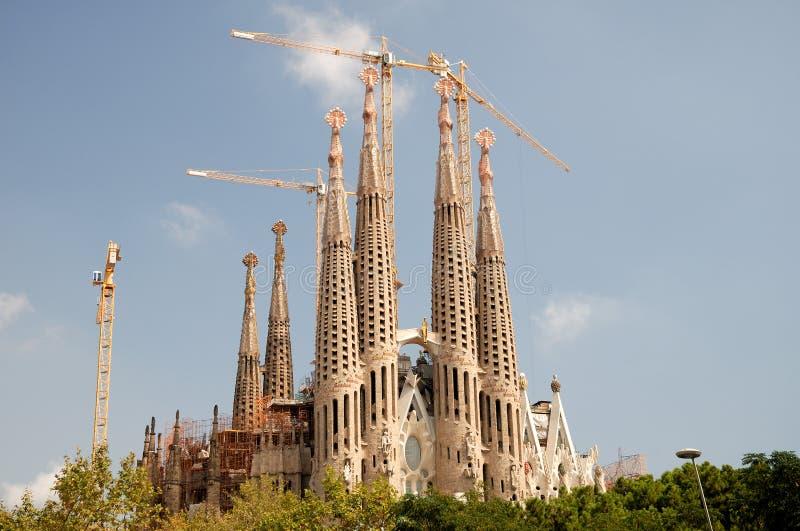 Sagrada Familia, Barcelona Spanje royalty-vrije stock afbeeldingen