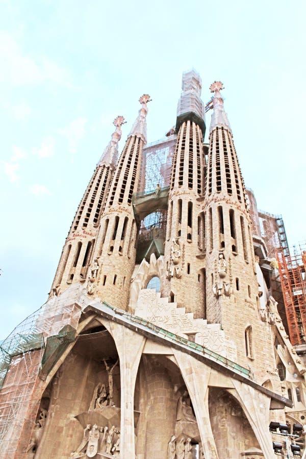 Sagrada Familia in Barcelona, Spanje stock foto