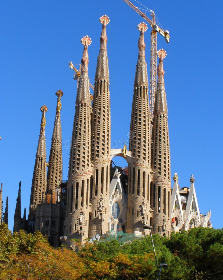 Sagrada Familia- Barcelone photos stock
