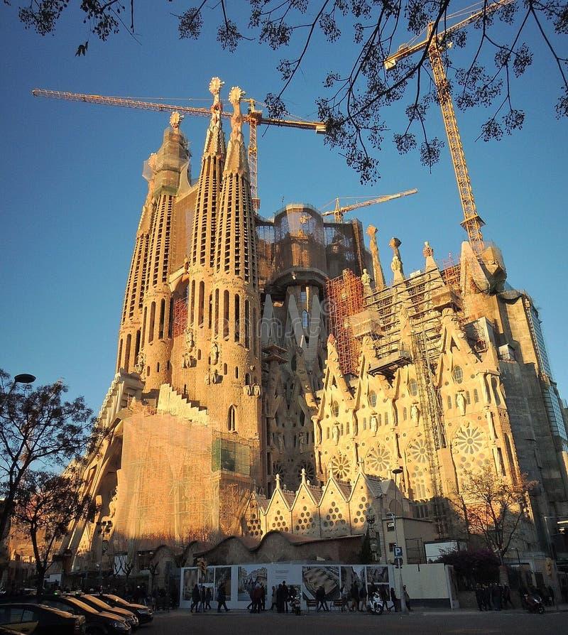 Sagrada Familia barcelone, espagne arkivfoton