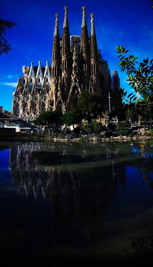 Sagrada Familia Basilica and Expiatory Church of the Holy Family stock photography