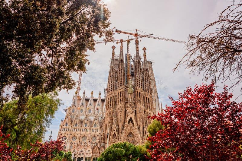 Sagrada Familia basiliek in Barcelona royalty-vrije stock foto