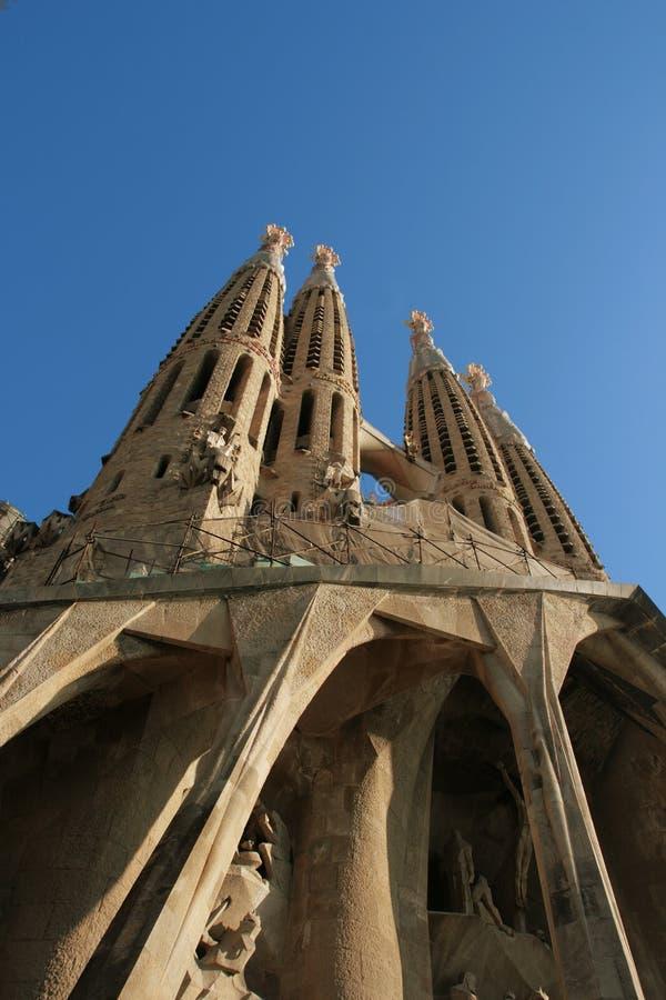 Sagrada Familia - catedral de Gaudi, en Barcelona foto de archivo libre de regalías