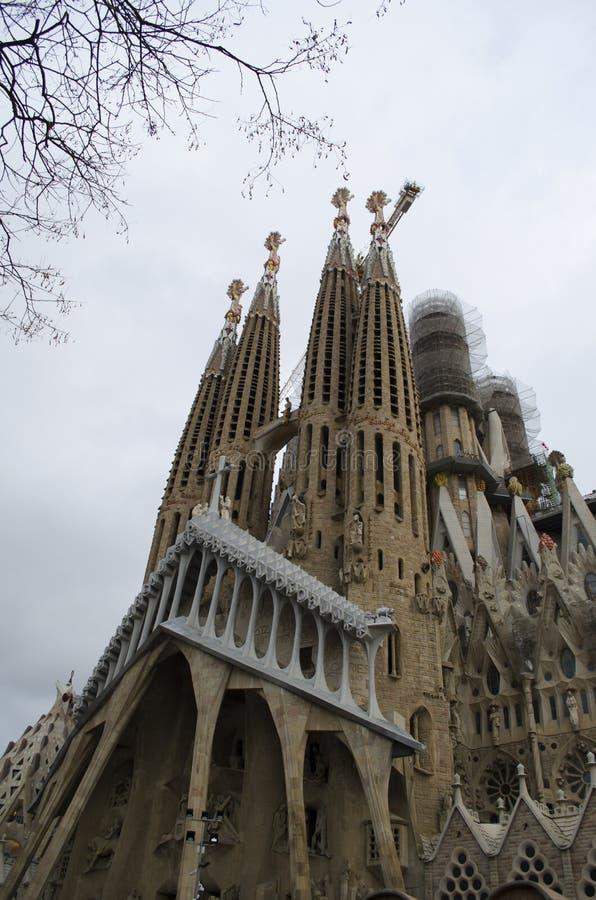 Sagrada Familia cathedral in Barcelona, Spain royalty free stock photos