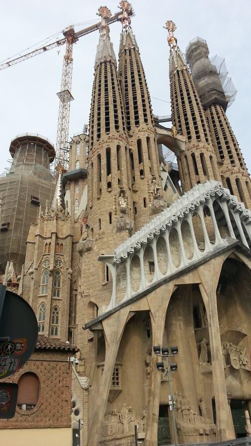 Sagrada Familia Church Barcelona Spain royalty free stock photography