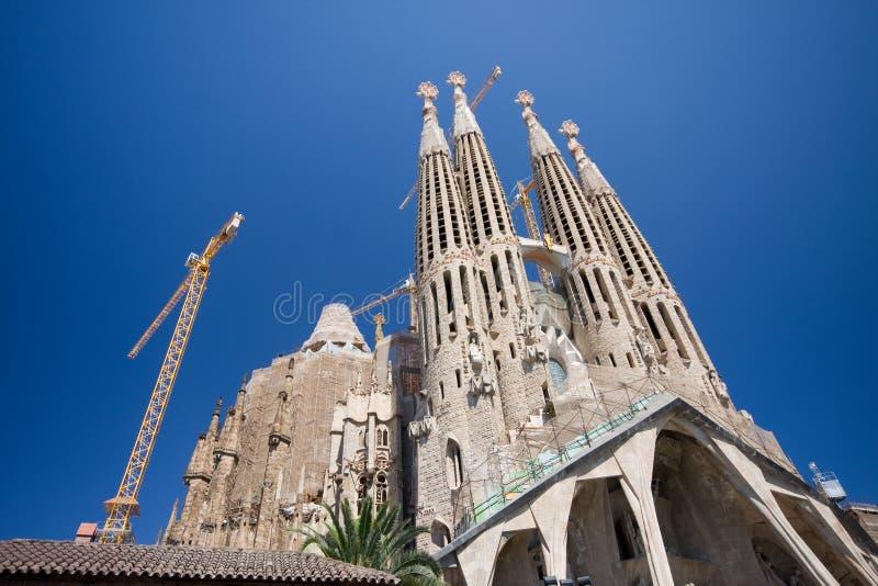 Sagrada Familia em Barcelona imagens de stock
