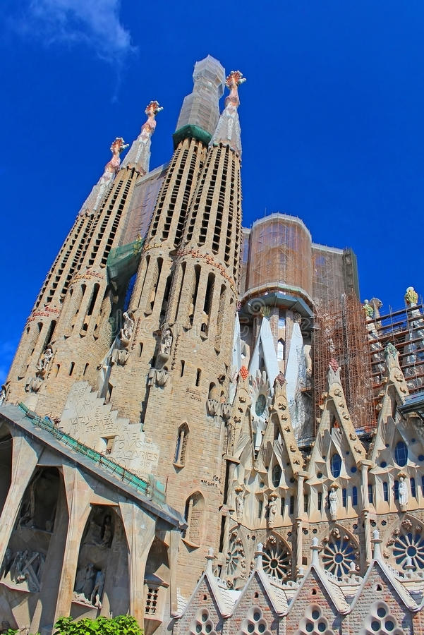 Sagrada Familia em Barcelona imagens de stock royalty free