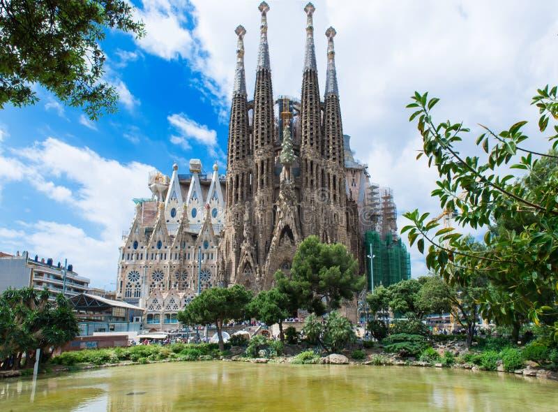 Sagrada Familia en Barcelona imágenes de archivo libres de regalías
