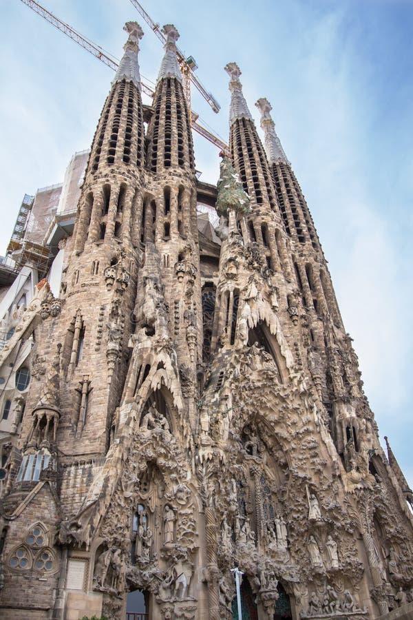 Sagrada Familia en Barcelona, fotografía de archivo