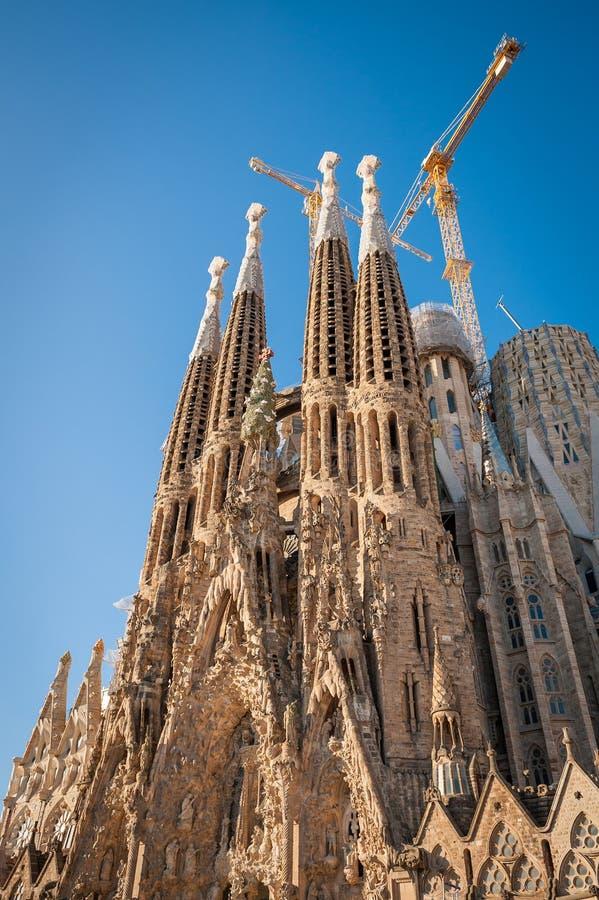 Sagrada Familia, Espagne, Barcelone, septembre 2017, DES de cathédrale images stock