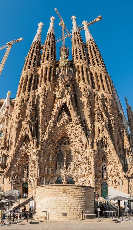 Sagrada Familia, Espagne, Barcelone, septembre 2017, DES de cathédrale photos libres de droits