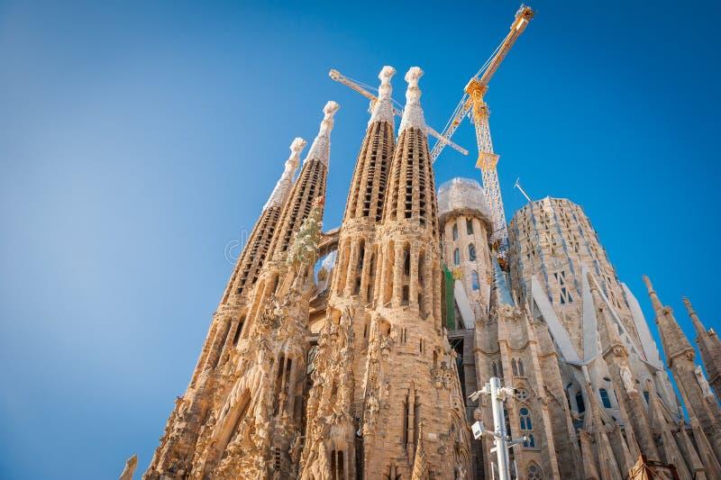 Sagrada Familia, Espagne, Barcelone, septembre 2017, DES de cathédrale image stock