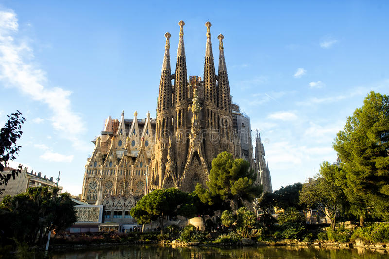 Sagrada Familia i Barcelona, Spanien royaltyfri foto