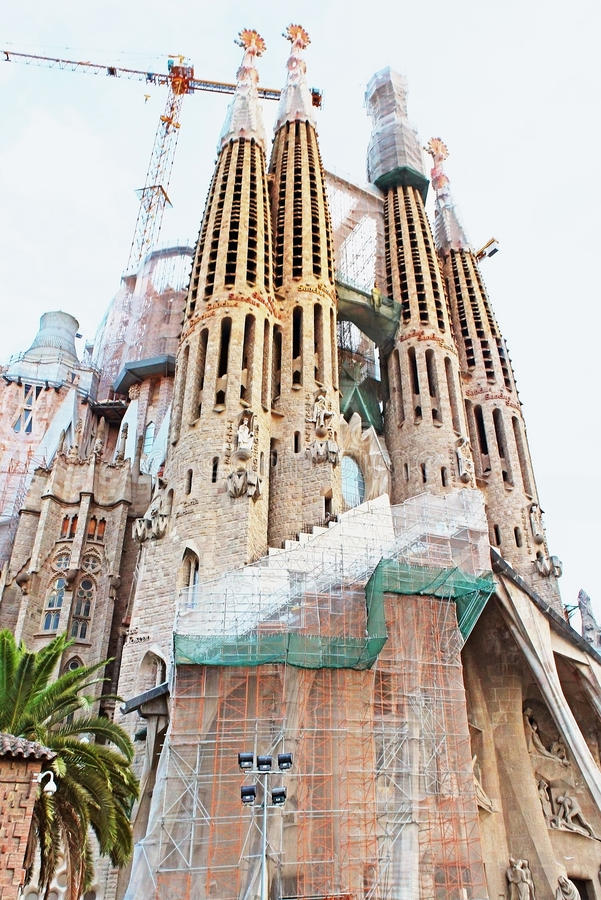 Sagrada Familia n Barcellona fotografia stock