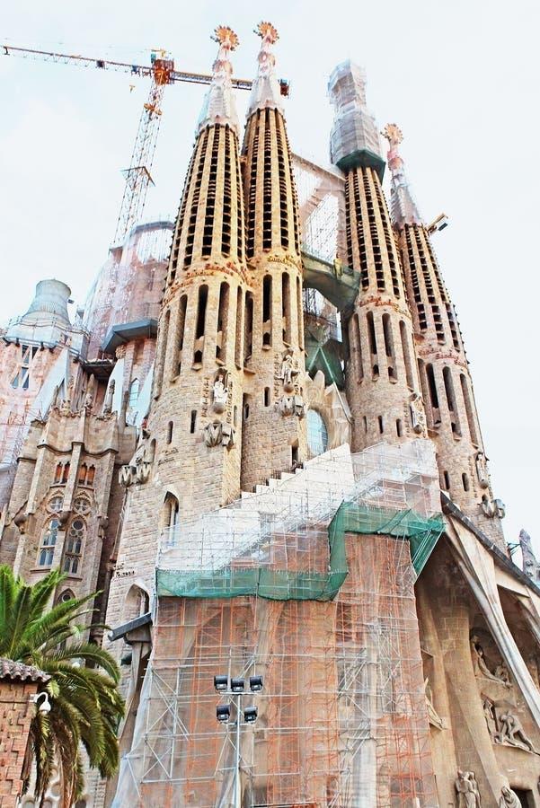 Sagrada Familia n Barcelona stock photography