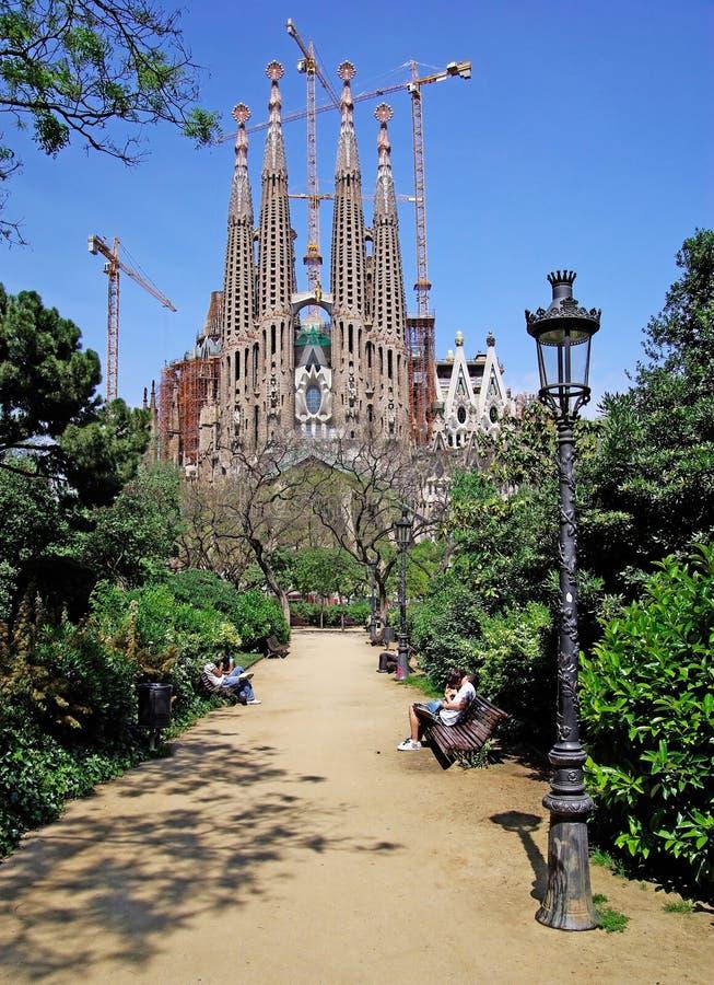 Download Sagrada Familia park view. stock image. Image of christian - 10793287