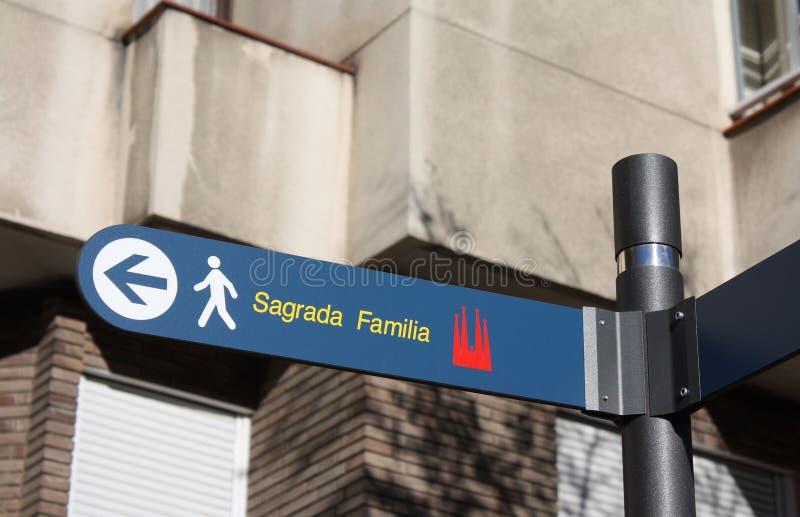 Sagrada Familia znak zdjęcie stock