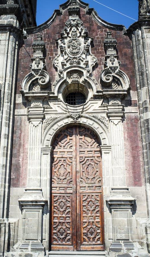 The Sagrario chapel of the Metropolitan Cathedral in Mexico City royalty free stock photos