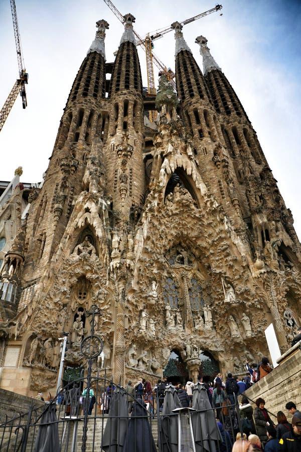 Sagre Familia Барселона стоковые фотографии rf