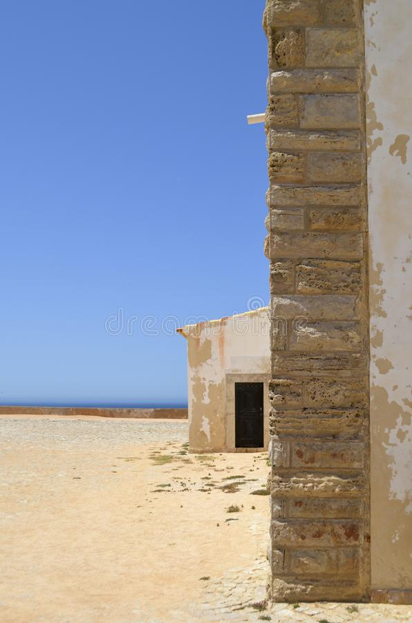 Sagres Blue Sky and White Building stock images